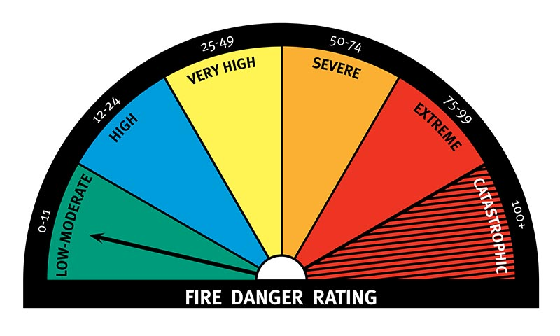 Forest Fire Index: Low-Moderate